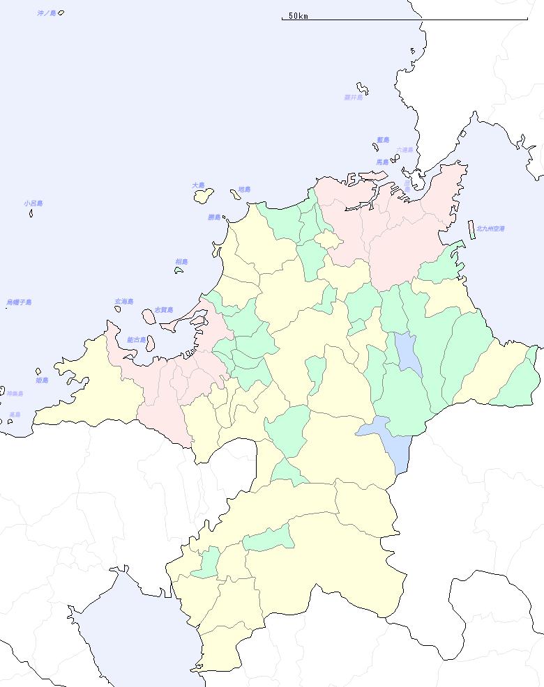 福岡県の地図 この地図はCraftMAPの地図を元に作成しました。 北海道 青森県 ... 福岡