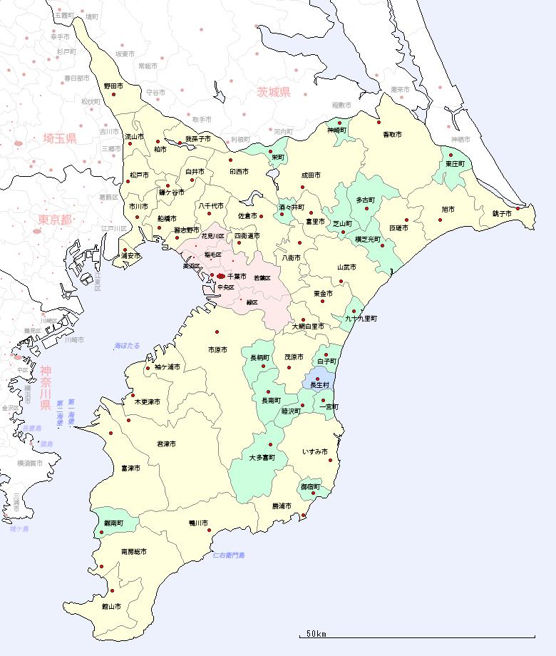 路線図 千葉県地図 千葉県 駅・路線図から地図を検索|マピオン