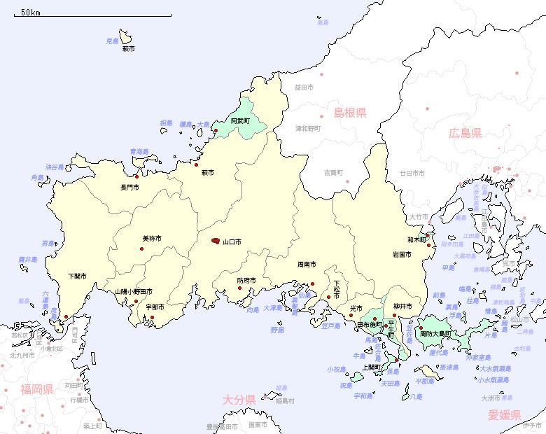 山口 県 地図 山口県マップ - goo地図